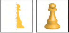 افکت 3D روش Revolve