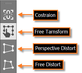 پنل ابزار Free Transform